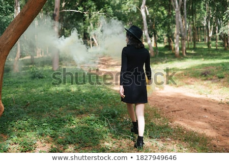 green smoke in black back Stock photo © prill
