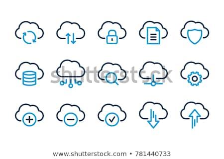 feltöltés · felhő · ikon · gomb · rakomány · szimbólum · kék - stock fotó © magann
