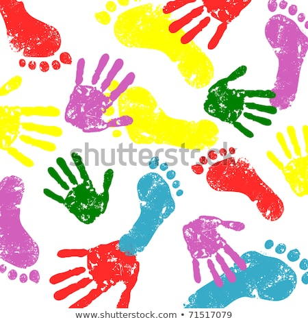 vector feet and hands of many colors stock photo © freesoulproduction
