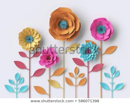 papel · flor · vermelho · belo · forma · abstrata · madeira - foto stock © Amaviael