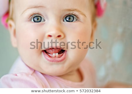 face baby smile with two teeths Stock photo © Paha_L