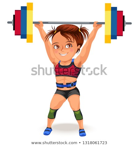 lány · sportok · melltartó · emel · súlyzó · nő - stock fotó © photography33