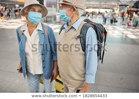 Nő fej bőrönd félelem néz horror Stock fotó © photography33