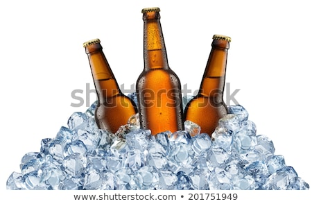 three ice cubes isolated stock photo © givaga