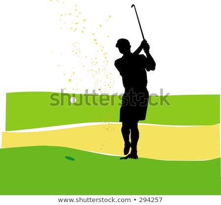 ゴルファー · ボール · 鉄 · クラブ · 空 · 雲 - ストックフォト © leonido