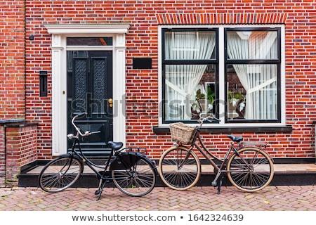 典型的な · オランダ語 · 住宅 · 水 · 晴れた · 春 - ストックフォト © ivonnewierink