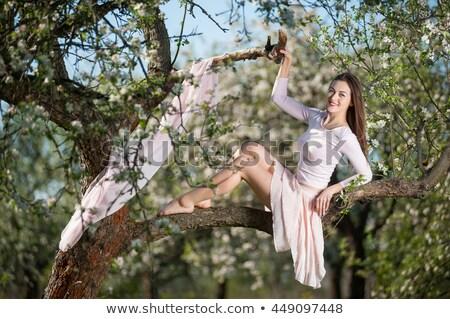идеальный · долго · женщины · ног · зеленый · расплывчатый - Сток-фото © Nobilior