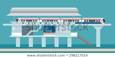 Estação de trem Tailândia rústico cidade negócio relógio Foto stock © sweetcrisis
