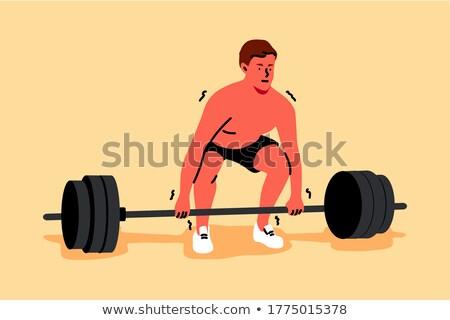 тяжелая атлетика лице спорт тело металл спортивных Сток-фото © photography33