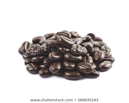 cioccolato · chicchi · di · caffè · isolato · bianco · foglia · latte - foto d'archivio © melpomene