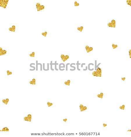 Seamlessly gold hearts pattern. Stock photo © Leonardi