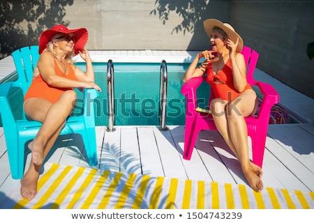 ゴージャス · 女性 · ランジェリー · 壁 · セクシーな女性 - ストックフォト © novic