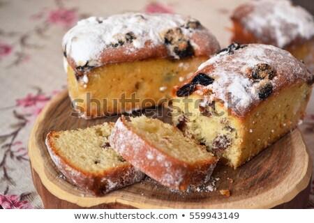 Piccolo torta di frutta bianco piatto alimentare Foto d'archivio © Tatik22