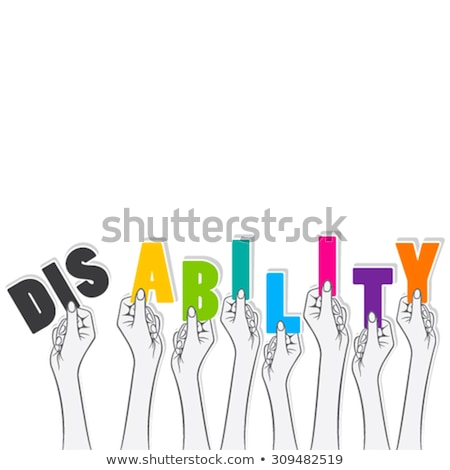 disability background conceptual design stock photo © tashatuvango