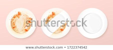 tiszta · tányér · kotlett · bot · eszik · eszik - stock fotó © mtkang