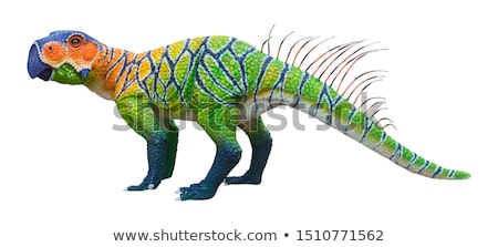 恐竜 3dのレンダリング オウム トカゲ 早い ストックフォト © AlienCat