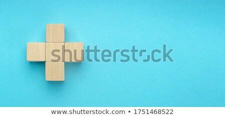management consulting in blue blocks Stock photo © marinini