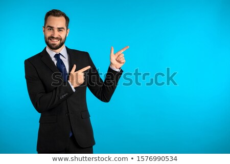 sonriendo · hombre · traje · algo · camisa - foto stock © wavebreak_media