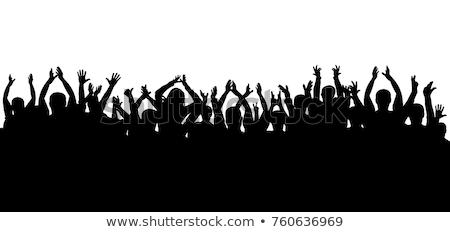 big cheering group of crowd stock photo © koqcreative