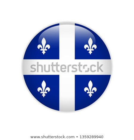 Botão Quebec mapa folha bandeira eletricidade Foto stock © Ustofre9