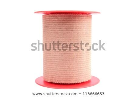 rodar · adhesivo · yeso · aislado · blanco · plástico - foto stock © michaklootwijk