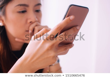 Stock photo: Woman looking vulnerable