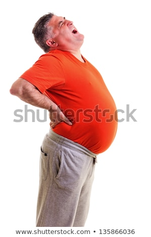 Overweight man with back pain Stock photo © Discovod