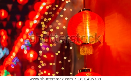 traditional chinese red lanterns Stock photo © travelphotography