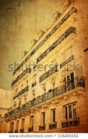 Gyönyörű párizsi utcák város háttér építészet Stock fotó © ilolab