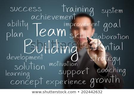 team · building · word · cloud · istruzione · strumenti · comunicazione · formazione - foto d'archivio © tashatuvango