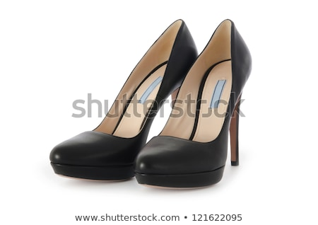 siyah · kadın · ayakkabı · yalıtılmış · beyaz · doku - stok fotoğraf © taden