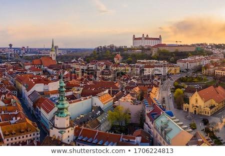 iglesia · vista · torre · Bratislava · Eslovaquia · edificio - foto stock © phbcz