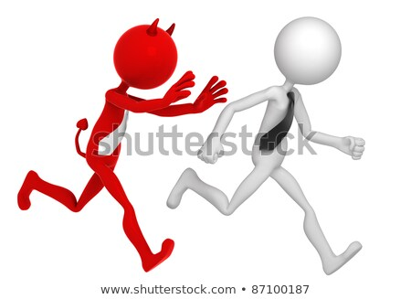 businessman running away from businessdevil stock photo © kirill_m