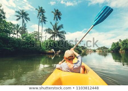 Canoe at the Lagoon Stock photo © danielbarquero