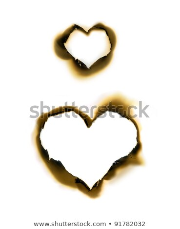paper with burnt in heart shape Stock photo © vichie81