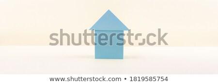 Home Insurance on Triangle Background. Stock photo © tashatuvango