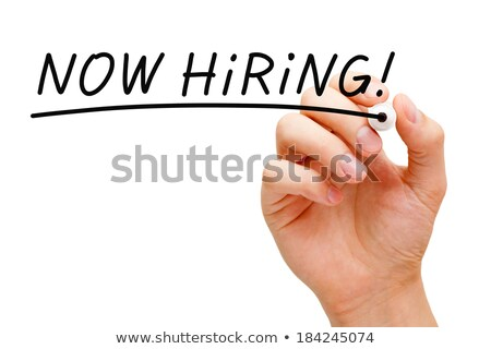 Stock photo: Now Hiring Black Marker
