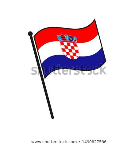 Хорватия небольшой флаг карта избирательный подход фон Сток-фото © tashatuvango