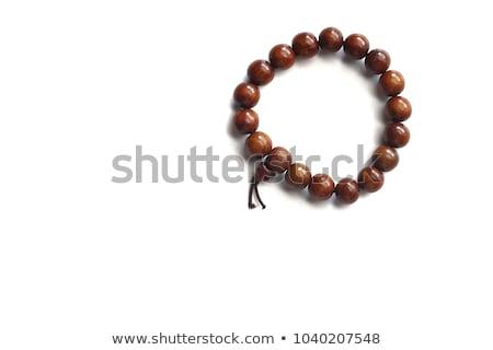 Wooden rosary beads Stock photo © Marfot
