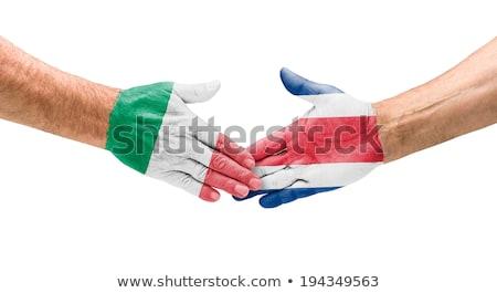 Stretta di mano Italia Costarica mano riunione sport Foto d'archivio © Zerbor