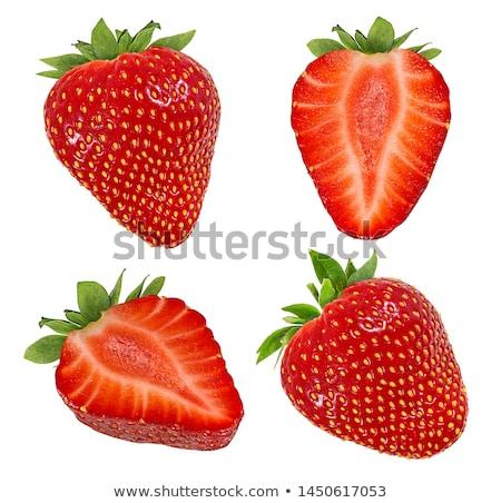 Halved strawberries isolated on white background Stock photo © natika