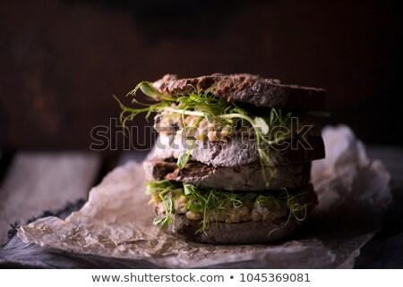 マグロ サンドイッチ プレート アップ 近い 在庫 ストックフォト © punsayaporn