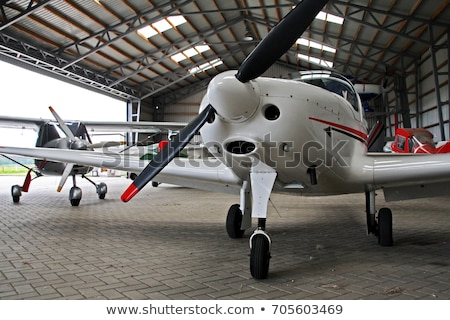 Stock photo: Plane and lights