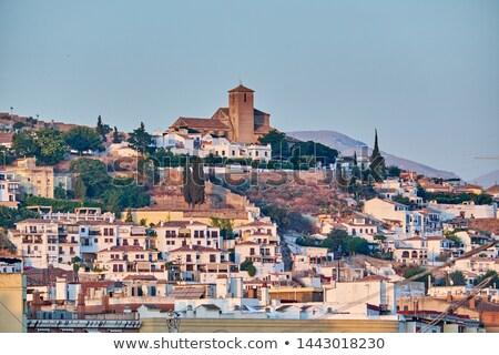 Альгамбра Церкви замок towers Испания деревья Сток-фото © billperry
