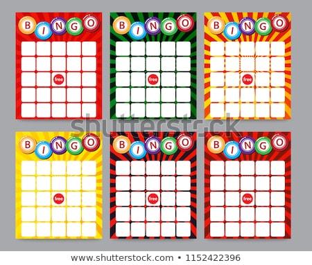 Bingo cartões ilustração menina dinheiro esportes Foto stock © adrenalina
