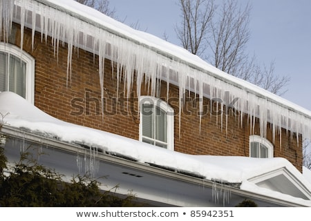 Icicle Hanging on Gutter  Stock photo © brm1949