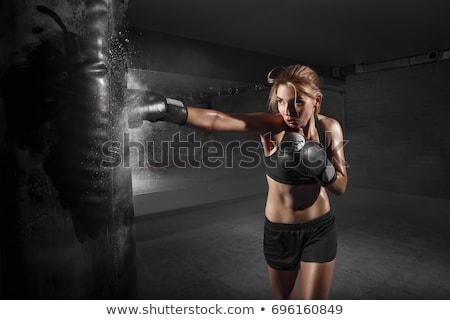 exercer · caixa · menina · comprometido · arte - foto stock © adrenalina
