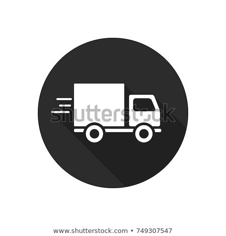 Teherautó egyszerű ikon fehér autó étel Stock fotó © tkacchuk