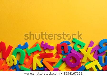 カラフル · 手紙 · グラフィック · 美しい · オブジェクト · 文字 - ストックフォト © lucielang