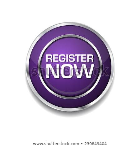 register now purple circular vector button stock photo © rizwanali3d